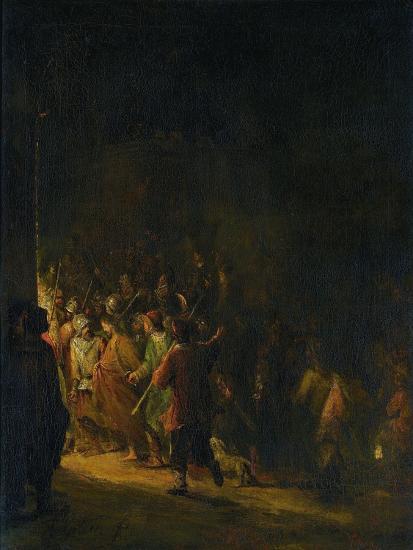 Christ Taken Prisoner (Betrayal of Christ)-Aert de Gelder-Art Print