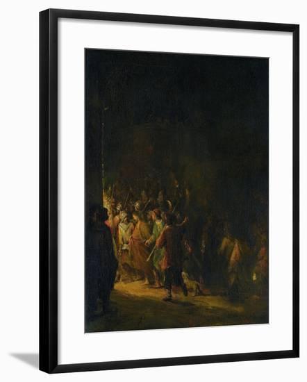 Christ Taken Prisoner (Betrayal of Christ)-Aert de Gelder-Framed Art Print