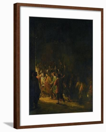 Christ Taken Prisoner (Betrayal of Christ)-Aert de Gelder-Framed Art Print