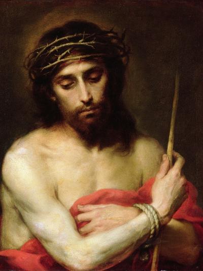 Christ the Man of Sorrows-Bartolome Esteban Murillo-Giclee Print