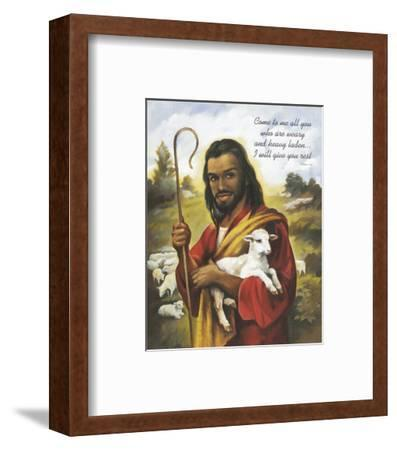 Christ the Shepherd-Lopez-Framed Art Print