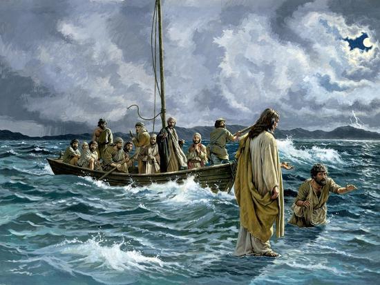 Christ Walking on the Sea of Galilee--Giclee Print