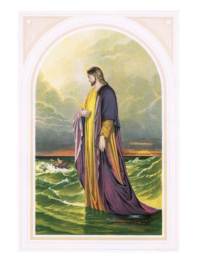 Christ Walking on the Sea-English-Giclee Print