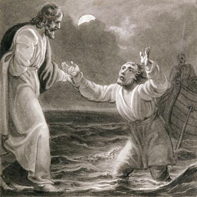 Christ Walking on the Water, C1810-C1844-Henry Corbould-Giclee Print