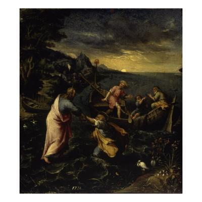Christ Walking on the Water-Denys Calvaert-Giclee Print
