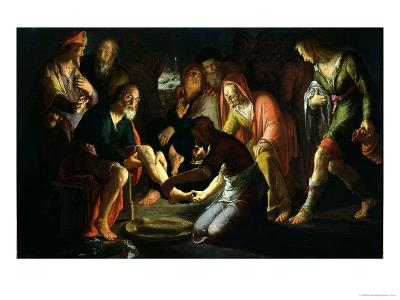 Christ Washing the Disciples' Feet, 1623-Peter Wtewael-Giclee Print