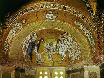 Christ Washing the Feet of an Apostle, Mosaic at the North End of the Narthex--Giclee Print