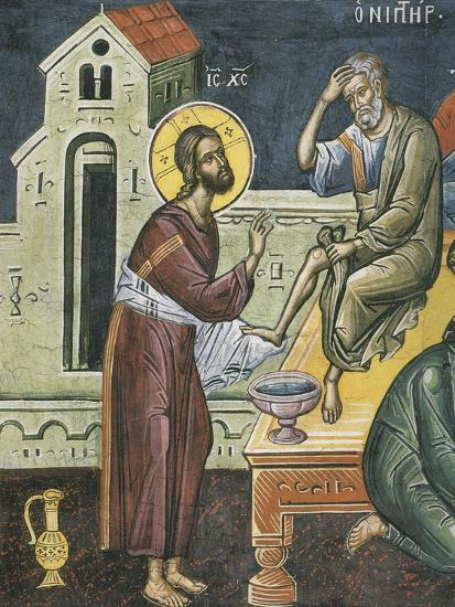 Christ Washing the Feet of the Apostles, 16th Century--Giclee Print