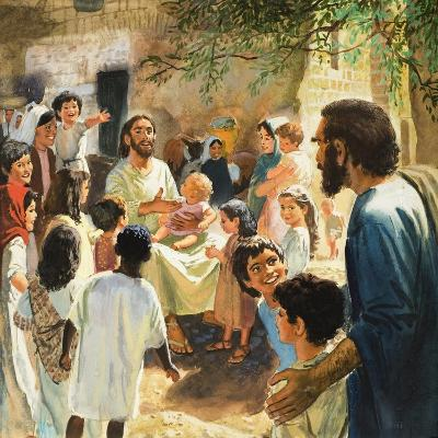 Christ with Children-Peter Seabright-Giclee Print