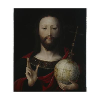 Christ with Globe - 'salvator Mundi', Lower Rhine, 1537-45-German School-Giclee Print