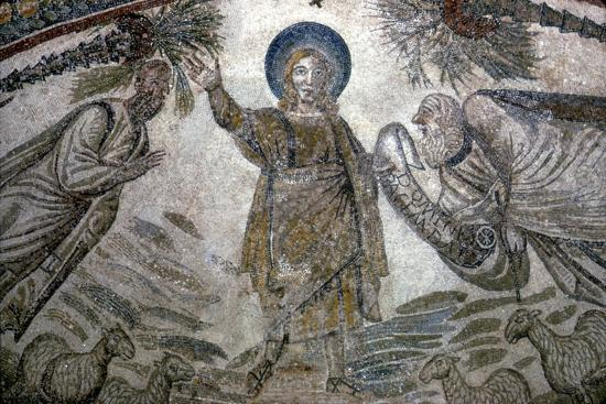 Christ with St Paul and St Peter (right), Mosail detail, Church of Santa Costanza, Rome, 350 BC-Unknown-Giclee Print