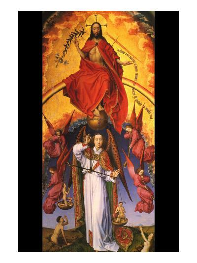 Christ with the Archangel Michael-Rogier van der Weyden-Art Print