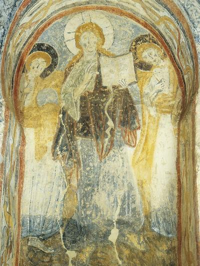 Christ with the Gospel Among Angels, Fresco, East Wall of San Benedetto--Giclee Print