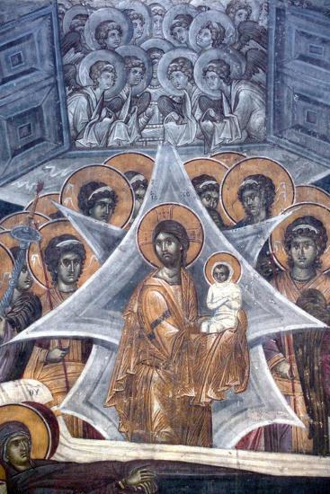 Christ with the Soul of the Virgin at the Gates of Heaven, 1321-1322--Giclee Print