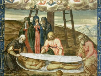 Christ Wrapped in the Holy Shroud, Deposition of Christ, 17th Century-Giovanni Battista Della Rovere-Giclee Print