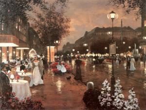 Evening Street Scene by Christa Kieffer