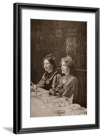 Christabel Pankhurst and Annie Kenney, 1909--Framed Photographic Print