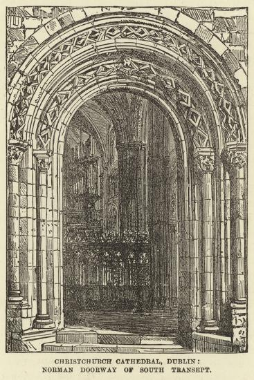 Christchurch Cathedral, Dublin, Norman Doorway of South Transept--Giclee Print