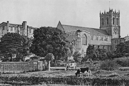 'Christchurch Priory', c1910-Unknown-Photographic Print
