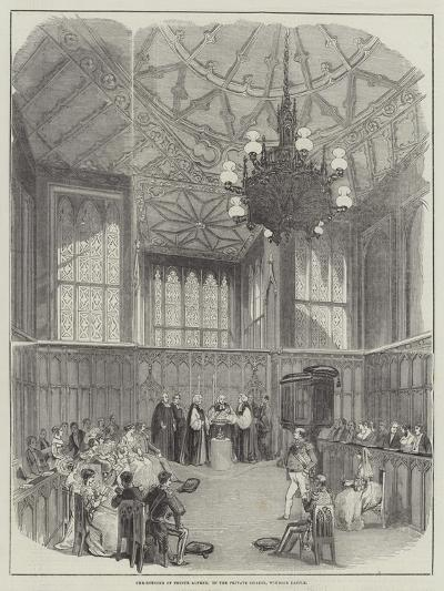Christening of Prince Alfred, in the Private Chapel, Windsor Castle--Giclee Print