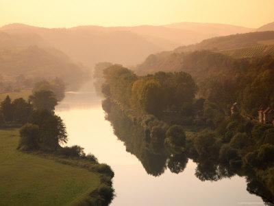 Vltava Moldau River from Karlstejn Castle