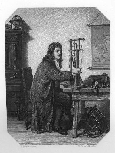 Christiaan Huygens, 17th Century Dutch Mathematician, Astronomer and Physicist, C1870-JH Rennefeld-Giclee Print