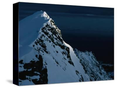 Peak on South End of Lofoten Island and the Ocean, Henningsvaer, Lofoten, Nordland, Norway