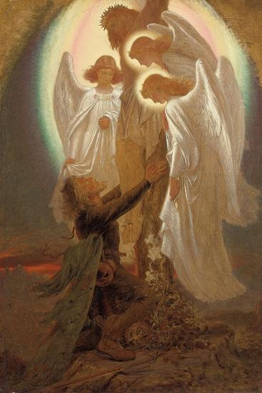 Christian at the Foot of the Cross-Sir Joseph Noel Paton-Giclee Print