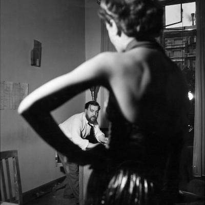 Christian Berard Sketching a Model in the Offices of Paris Vogue-Roger Schall-Premium Photographic Print