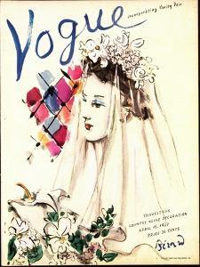 Vogue Cover - April 1937 - Spring Wedding by Christian Berard
