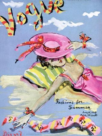 Vogue Cover - June 1939 - Sun Bathing