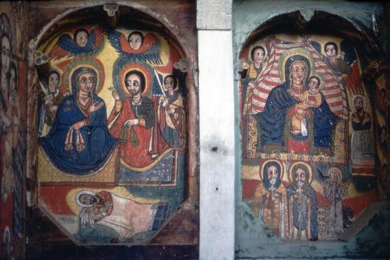 Christian Church wall painting, Ethopia-Unknown-Giclee Print