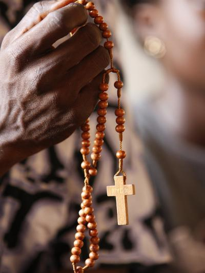 Christian Couple Praying, Togoville, Togo, West Africa, Africa--Photographic Print