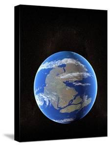 Earth At Time of Pangea by Christian Darkin