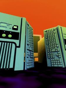 Group of Personal Computers, Artwork by Christian Darkin