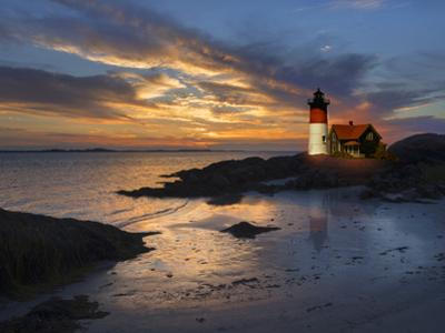 Lighthouse off New England Coast by Christian Delbert