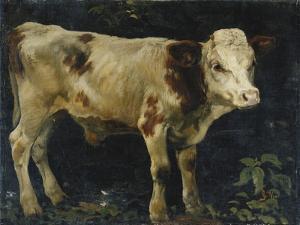 A Bull Calf, 1876 by Christian Eriksen Skredsvig