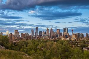 Canada, Alberta, Calgary, City Skyline by Christian Heeb