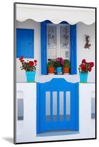 Europe, Greece, Cyclades Island,Aegean Sea, Mykonos, Myconos, Blue Gate at Private Home by Christian Heeb