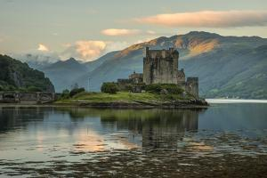 Europe, United Kingdom, Scotland, Dornie,Eilean Donan Castle, west, by Christian Heeb