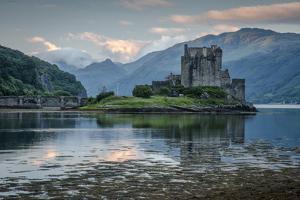 Europe, United Kingdom, Scotland, Dornie,Eilean Donan Castle, west, by Christian Heeb