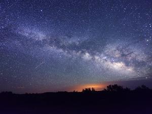 Night Sky, Sunset Crater National Monument, Arizona, USA by Christian Heeb