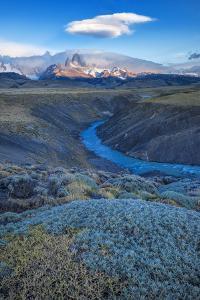 South America, Patagonia, Argentina, El Chalten, Mount Fitz Roy in Los Glaciares National Park by Christian Heeb