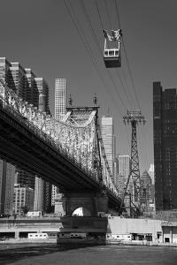 USA, East Coast, New York, Midtown, East River, Roosevelt Island, Queensboro Bridge by Christian Heeb