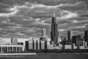 Usa,Illinois, Midwest, Cook County, Chicago,Shedd Aquarium and Skyline by Christian Heeb