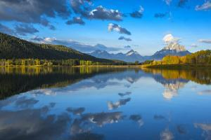 USA,Wyoming, Rockie Mountains, Teton County, Grand Teton National Park, Reflections of Mount Moran  by Christian Heeb