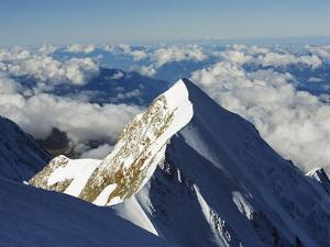 Aiguille De Bionnassay, 4052M, From Mont Blanc, Chamonix, French Alps, France, Europe by Christian Kober