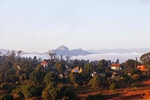 Ambalavao town and mountain scenery, central area, Madagascar, Africa by Christian Kober