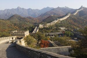 Autumn Colours and a Watch Tower on the Great Wall of China by Christian Kober