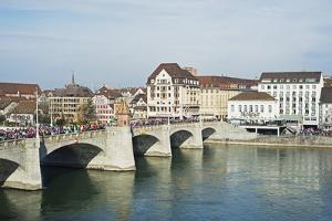 Basel on the River Rhine, Switzerland, Europe by Christian Kober